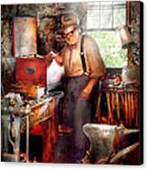 Blacksmith - The Smithy  Canvas Print by Mike Savad