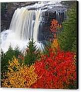 Blackwater Falls In Autumn Canvas Print by Jetson Nguyen