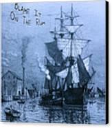 Blame It On The Rum Schooner Canvas Print by John Stephens