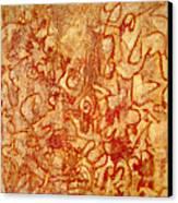 Bleeding Through Canvas Print
