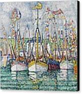 Blessing Of The Tuna Fleet At Groix Canvas Print