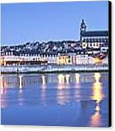 Blois Loire Valley Panorama Twilight  Centre France Canvas Print by Colin and Linda McKie