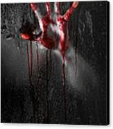 Bloody Hand Canvas Print by Jt PhotoDesign