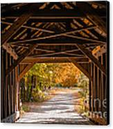 Blow-me-down Covered Bridge Cornish New Hampshire Canvas Print by Edward Fielding