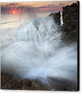 Blowing Rocks Sunrise Explosion Canvas Print by Mike  Dawson