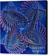 Blue 3 Canvas Print by Deborah Benoit