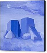 Blue Adobe Canvas Print