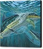 Blue And Mahi Mahi Underwater Canvas Print by Terry Fox
