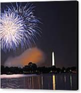 Blue And White O'er Washington D.c. Canvas Print