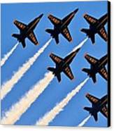 Blue Angels Overhead Canvas Print by Benjamin Yeager