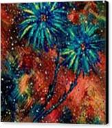 Blue Asters Canvas Print