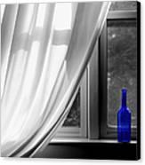 Blue Bottle Canvas Print by Diane Diederich
