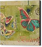Blue Butterfly Etc - S55ct01 Canvas Print