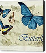Blue Butterfly - S01a Canvas Print by Variance Collections