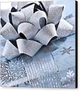 Blue Christmas Gift Canvas Print by Elena Elisseeva