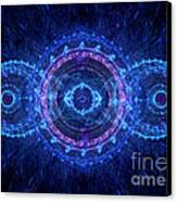 Blue Circle Fractal Canvas Print by Martin Capek