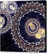 Blue Clockwork Canvas Print