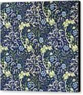 Blue Daisies Design Canvas Print by William Morris