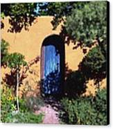 Blue Door At Old Mesilla Canvas Print