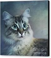 Blue Eyed Queen Canvas Print