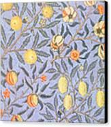 Blue Fruit Canvas Print by William Morris