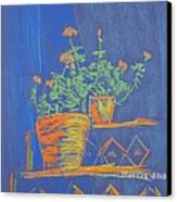 Blue Geranium Canvas Print by Marcia Meade