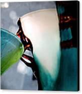 Blue Green Art Glass 2 Canvas Print