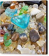 Blue Green Seaglass Coastal Beach Baslee Troutman Canvas Print by Baslee Troutman