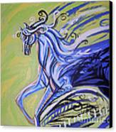 Blue Horse Canvas Print by Genevieve Esson