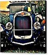 Blue Hot Rod Canvas Print by Stanley  Funk