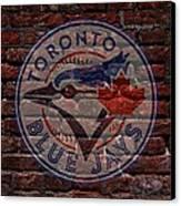 Blue Jays Baseball Graffiti On Brick  Canvas Print by Movie Poster Prints