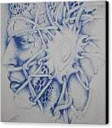 Blue Man Canvas Print by Moshfegh Rakhsha