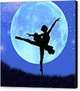Blue Moon Ballerina Canvas Print