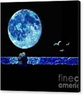 Blue Moon Canvas Print by LCS Art