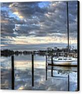 Blue Morning Reflections Canvas Print by Vicki Jauron