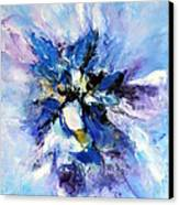 Blue Mystery Canvas Print by Isabelle Vobmann