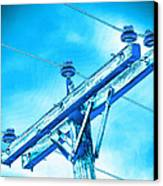 Blue Relay Canvas Print by Wendy J St Christopher