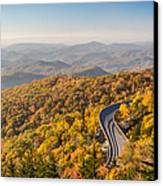 Blue Ridge Parkway In Peak Autumn Colors Canvas Print by Pierre Leclerc Photography