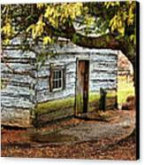 Blue Ridge Parkway - Mabry Mill Building In The Rain Canvas Print