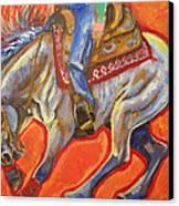 Blue Roan Reining Horse Spin Canvas Print by Jenn Cunningham