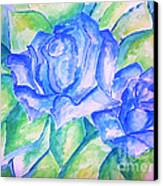 Blue Roses Canvas Print by Sidney Holmes