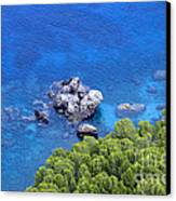 Blue Sea Canvas Print by Boon Mee