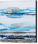 Blue Shore Rhythms And Textures IIi Canvas Print by Mike   Bell
