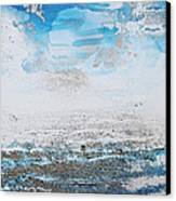 Blue Shore Rhythms And Texturesii Canvas Print by Mike   Bell