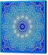 Blue Space Flower Canvas Print by Hanza Turgul