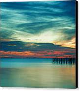 Blue Sunset Canvas Print by Christopher Blake
