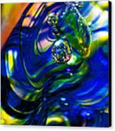 Blue Swirls Canvas Print by David Patterson