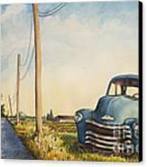 Blue Truck North Fork Canvas Print