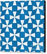 Blue Twirl Canvas Print by Linda Woods