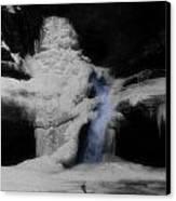 Blue Waterfall Frozen Landscape Canvas Print by Dan Sproul